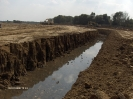 Víztelenítő árok építése anyagnyerőhelyen